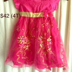Other - Boutique Pink Girls Dress (4 T)